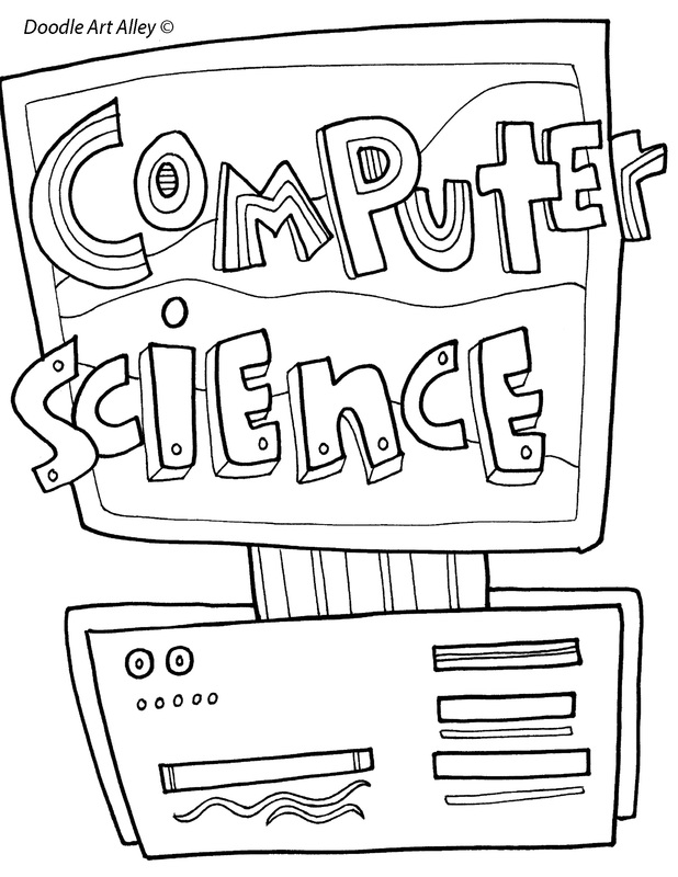 Computer Science Coloring Page