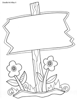Name templates coloring pages classroom doodles sign template coloring page pronofoot35fo Choice Image