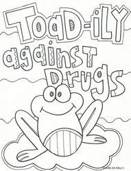 Toad Ily Against Drugs Coloring Page