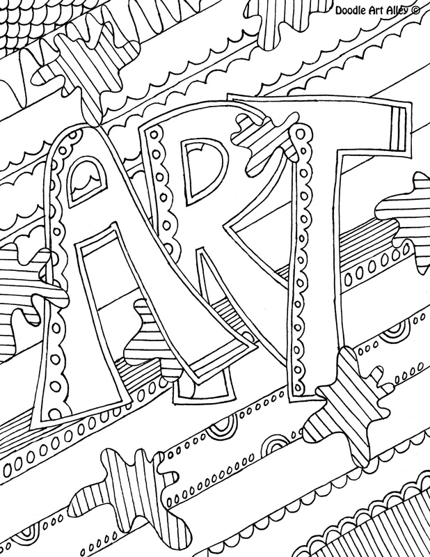 picture art coloring page - Language Arts Coloring Pages