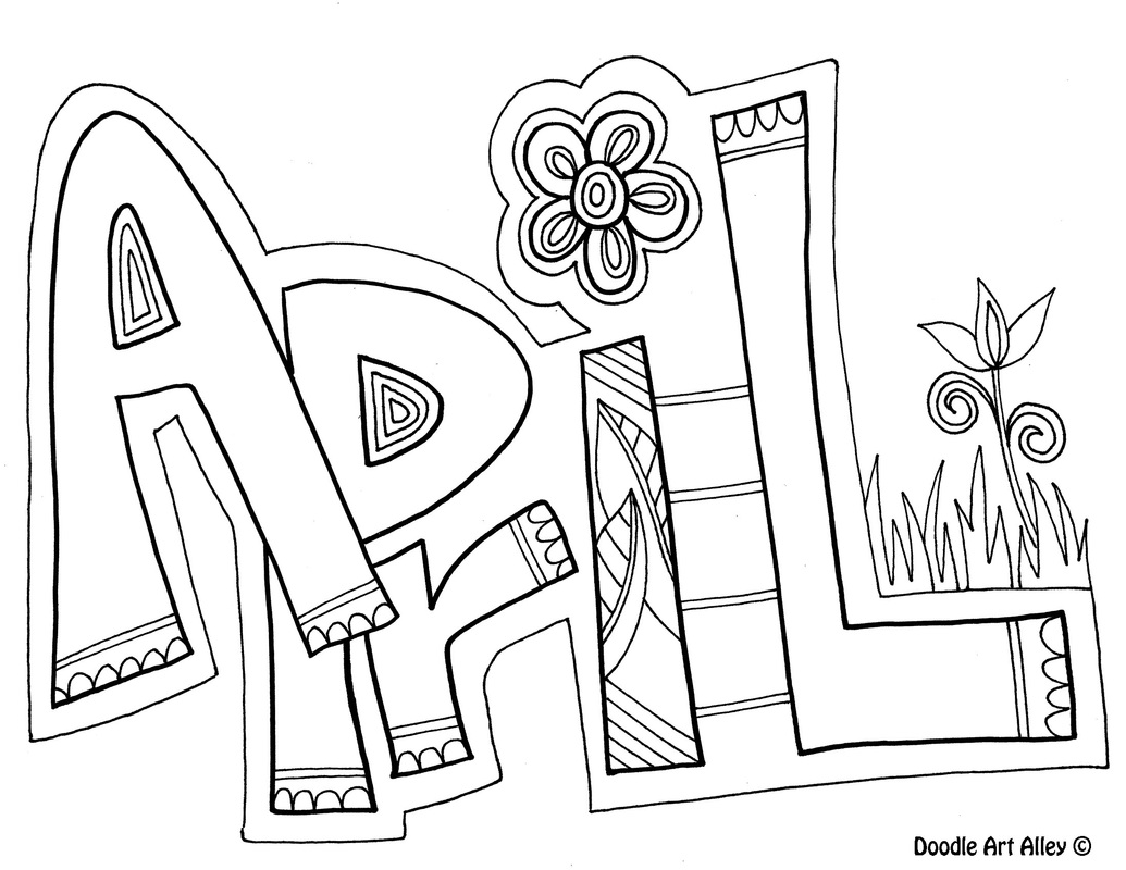 free april coloring pages - photo#4