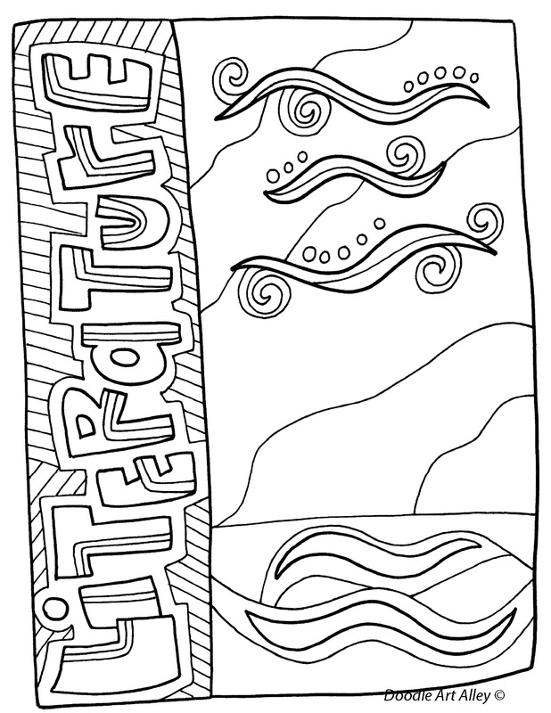 Awesome Literature Coloring Page