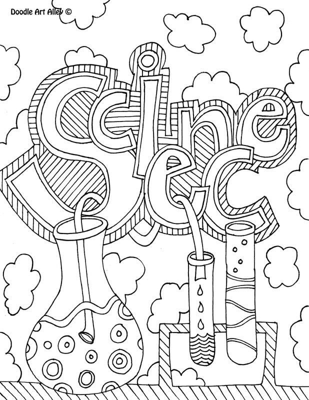 doodle art alley coloring pages Subject Cover Pages Coloring Pages   Classroom Doodles doodle art alley coloring pages