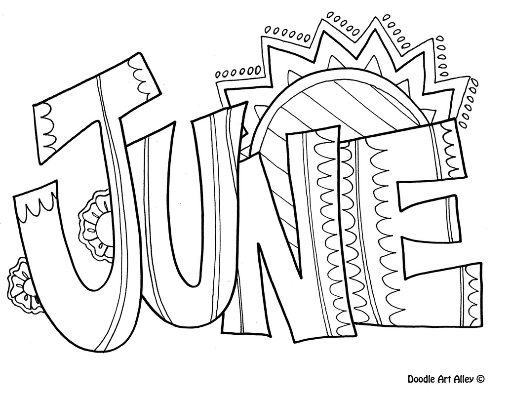 Coloring Pictures For June Summer Coloring Pages eBook June Calendar ...