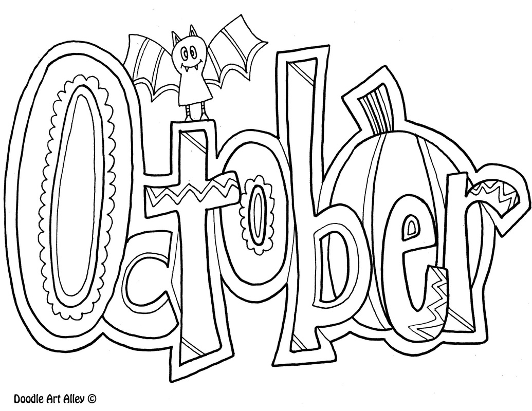 September Coloring Pages Endearing Months Of The Year Coloring Pages  Classroom Doodles Inspiration Design
