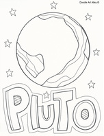 pluto planet coloring pages - photo#2