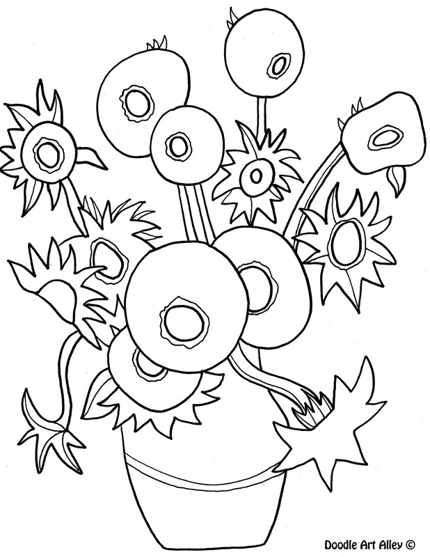 famous art work coloring pages