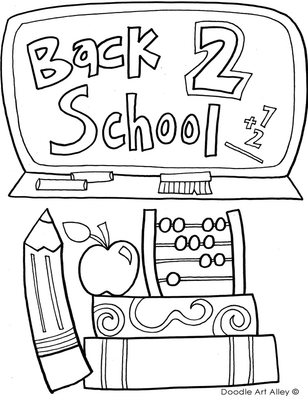 Back to school coloring pages printables classroom doodles for Back to school coloring pages free printables