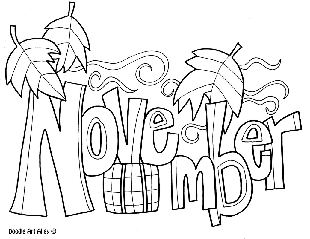 September Coloring Pages Months Of The Year Coloring Pages  Classroom Doodles