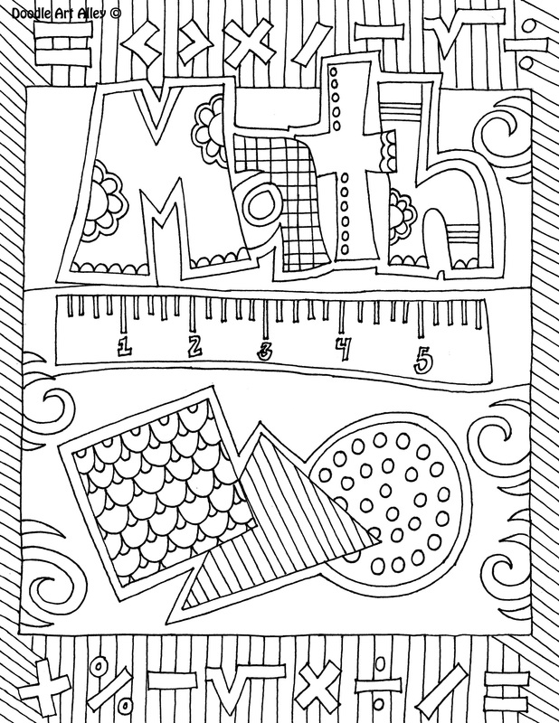 picture math coloring page