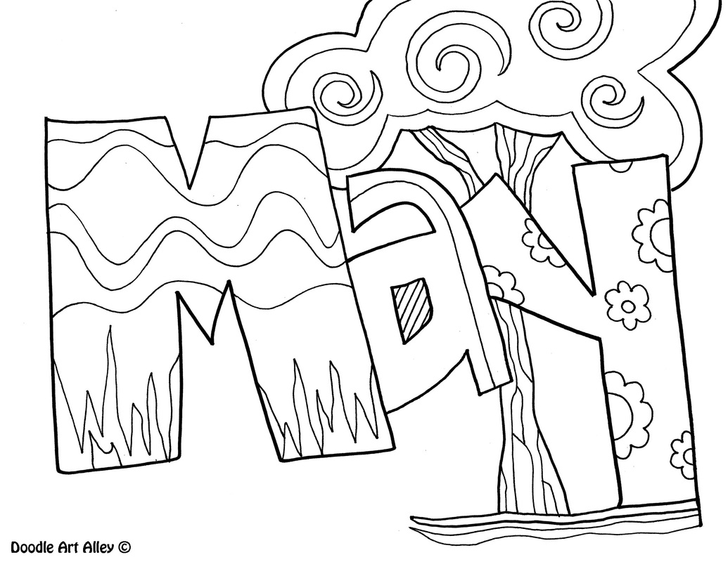 Months of the year coloring pages classroom doodles picture pronofoot35fo Choice Image