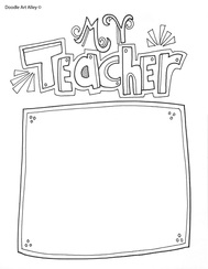 graphic regarding Free Printable Teacher Appreciation Cards to Color named Instructor Appreciation 7 days Printables - Clroom Doodles
