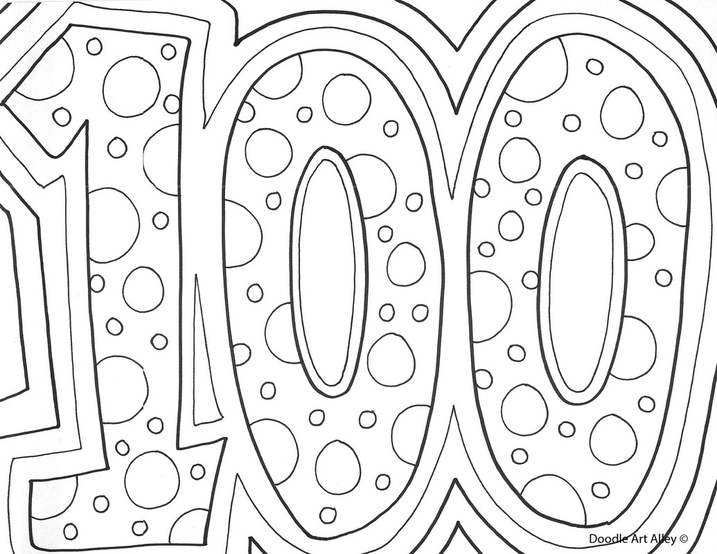 100Th Day Of School Coloring Pages Amusing 100Th Day Of School Celebration  Classroom Doodles