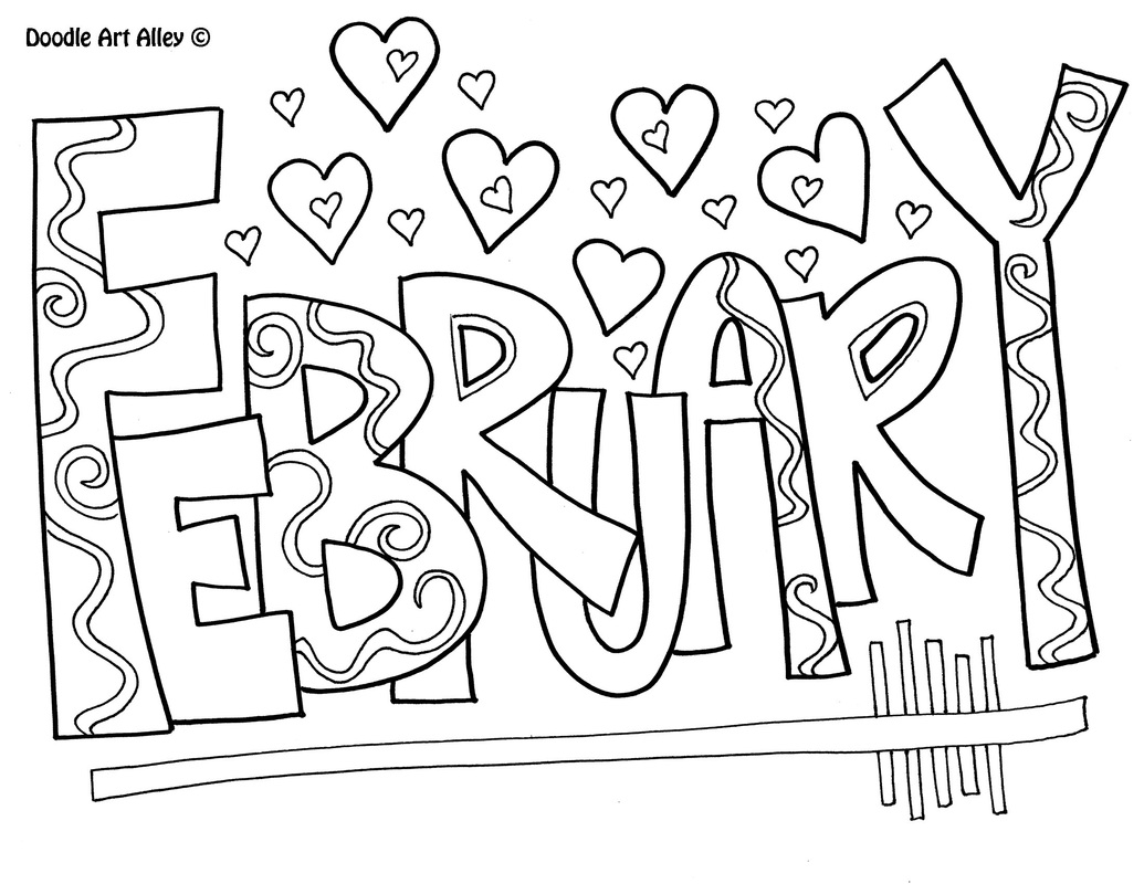 january coloring page picture - Colour In Sheet