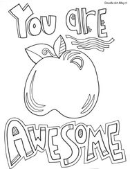 you are awesome coloring page