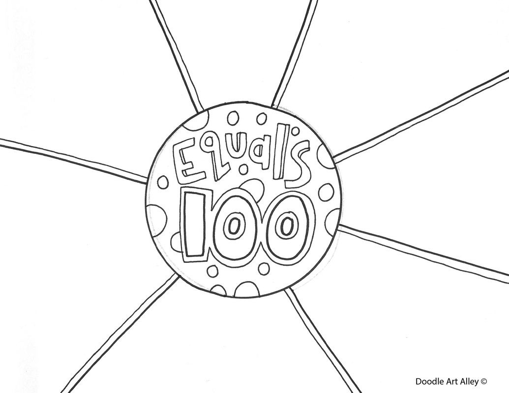 100th day of celebration classroom doodles