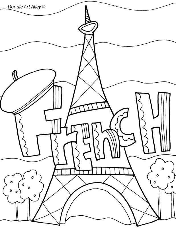 beginning french coloring pages - photo#11