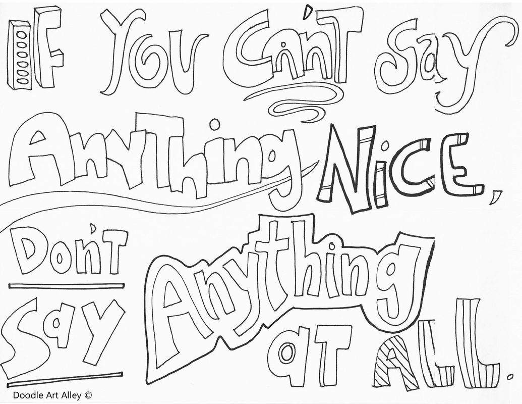 bullying coloring pages No Bullying Coloring Pages   Classroom Doodles bullying coloring pages