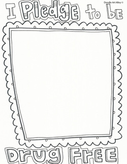 I Pledge To Be Drug Free Printable Picture Living Coloring Page