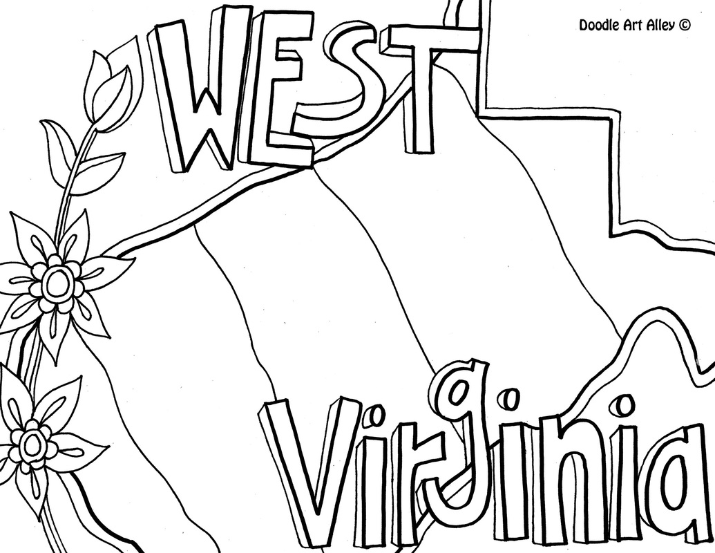west virginia - Coloring Page United States