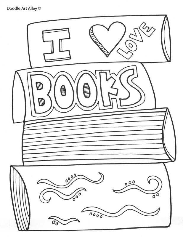 Reading Coloring Pages & Printables - Classroom Doodles