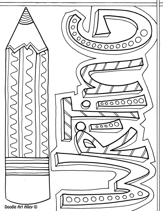 Elegant Vocabulary Coloring Page. Picture
