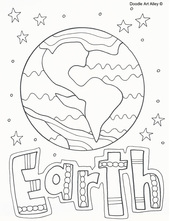 earth coloring page picture