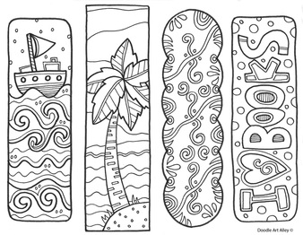 Bookmarks For Coloring | Bookmarks To Color Classroom Doodles