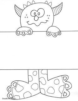 Name templates coloring pages classroom doodles monster name template coloring page pronofoot35fo Choice Image