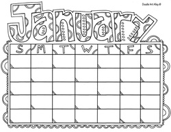 Calendar Months Coloring Pages