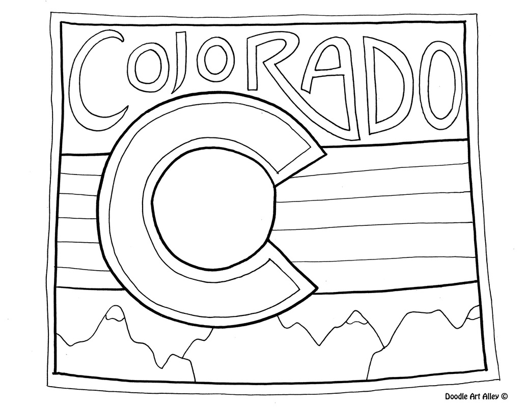 colorado - Coloring Page United States