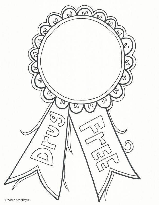 red ribbon week coloring pages and printables  classroom doodles, printable coloring