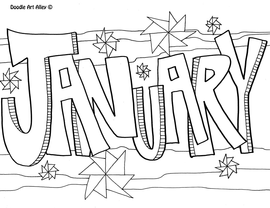 Picture January Coloring Page
