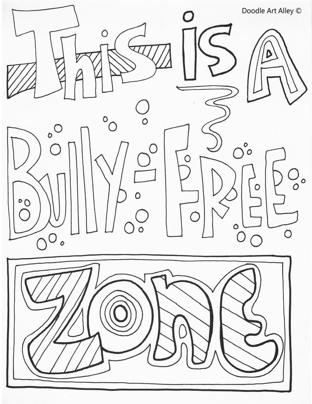 School Environment Printables Classroom Doodles Anti Bullying Coloring Pages For Kindergarten