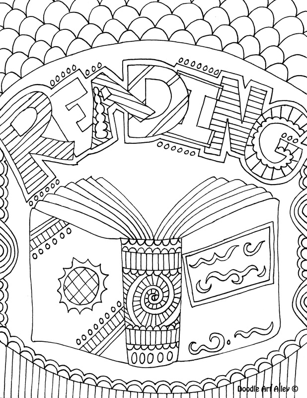 coloring pages about reading - subject cover pages coloring pages classroom doodles