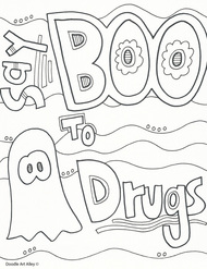 Red Ribbon Week Coloring Pages and Printables - Classroom Doodles