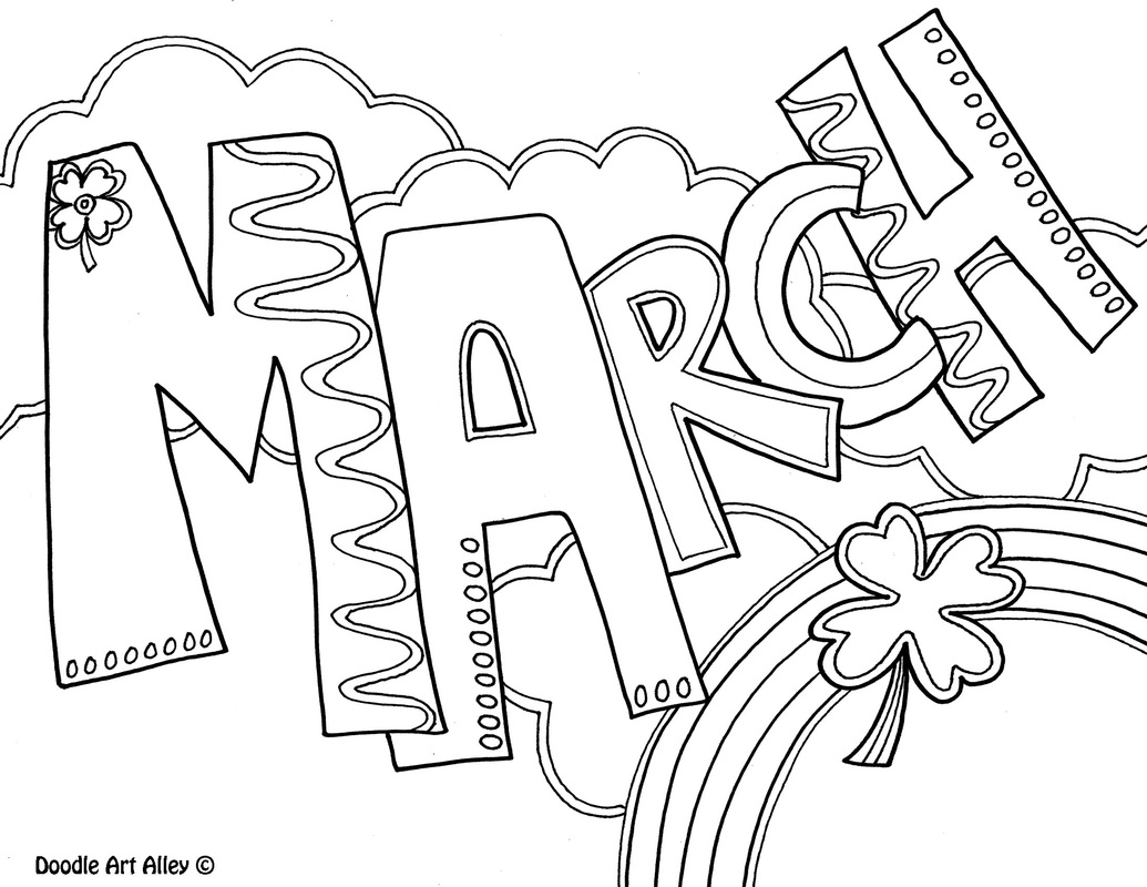 Picture March Coloring Page