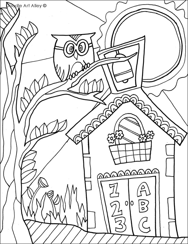 picture school coloring page