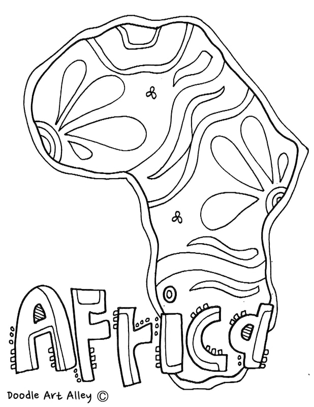 coloring pages africa - photo#27
