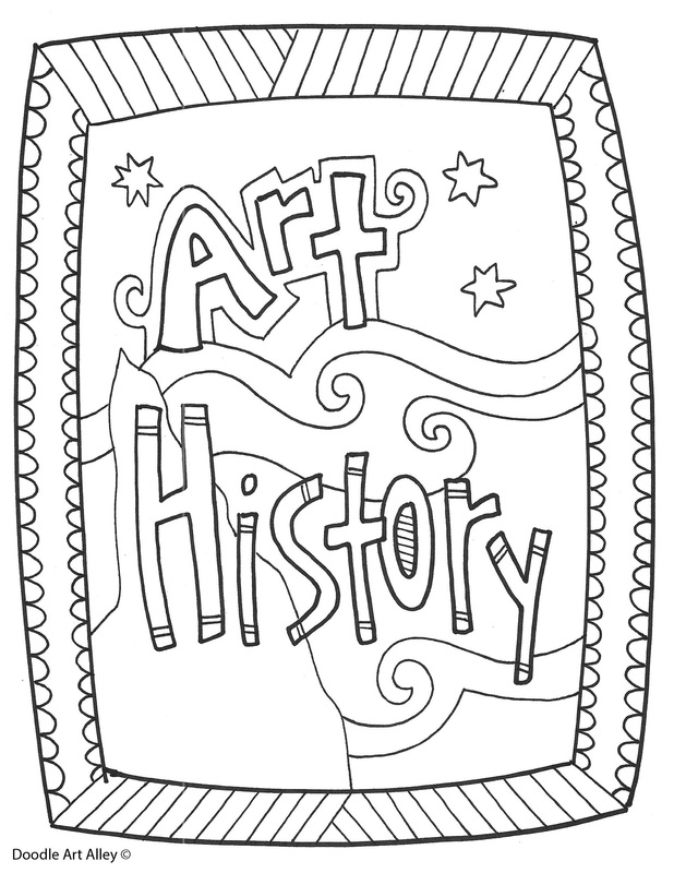 art history coloring book pages - photo#1