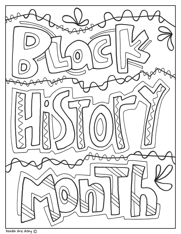 Black history month printables classroom doodles for Black history printable coloring pages