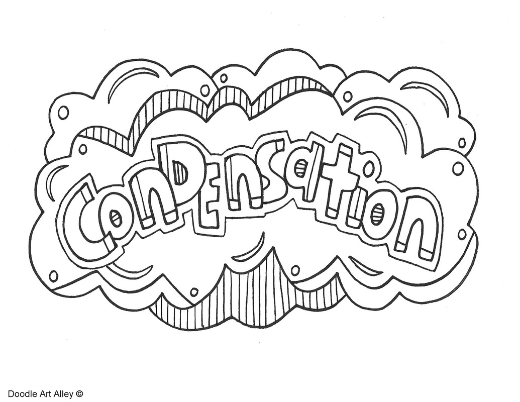 Coloring pages water - Condensation Coloring Page