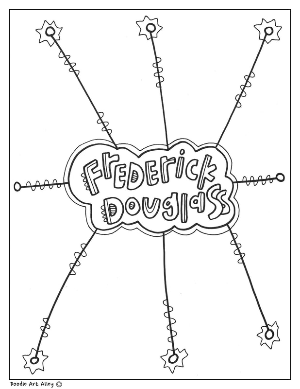 frederick douglass coloring pages