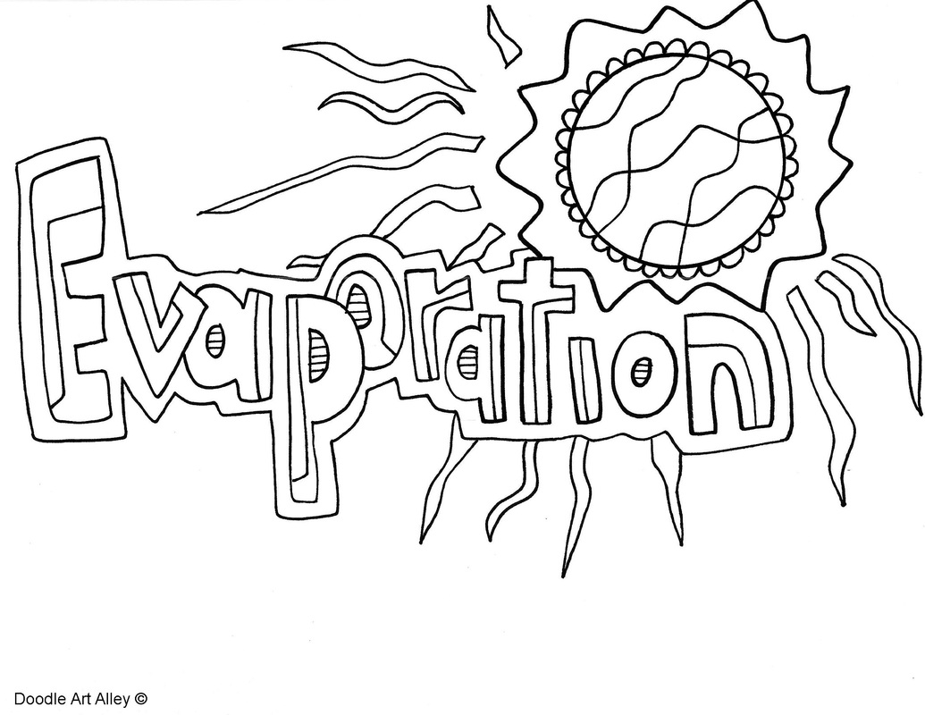 Water Cycle Coloring Pages and Printables Classroom Doodles