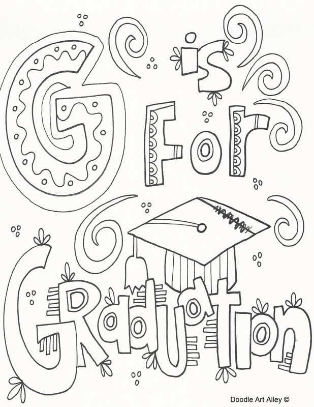 Graduation Coloring Pages And Printables
