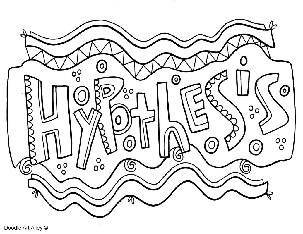 scientific method coloring pages classroom doodles