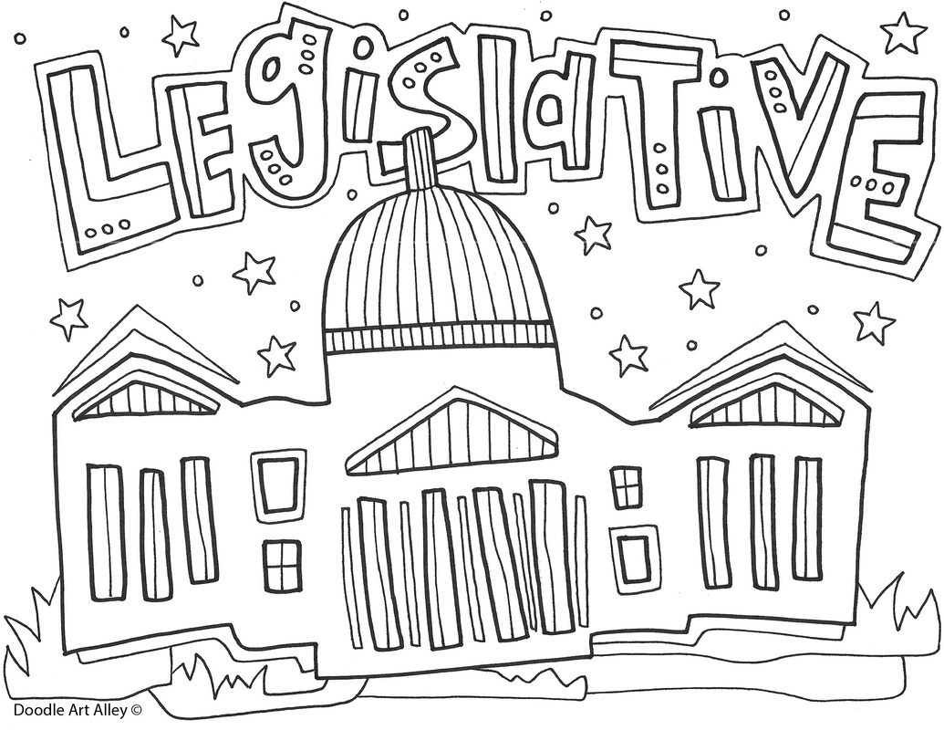 worksheet Legislative Branch Worksheet branches of government coloring pages and printables classroom doodles legislative page