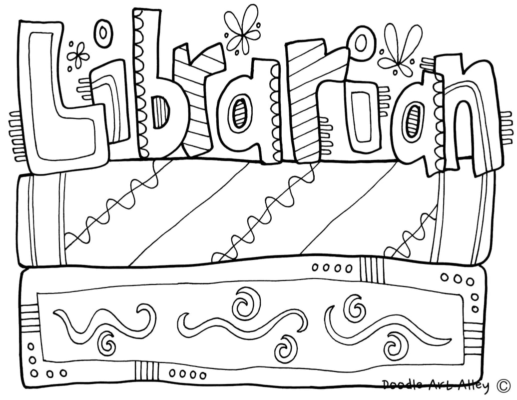 Coloring Pages For Library