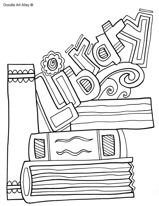 Binder Cover Coloring Pages Classroom Doodles