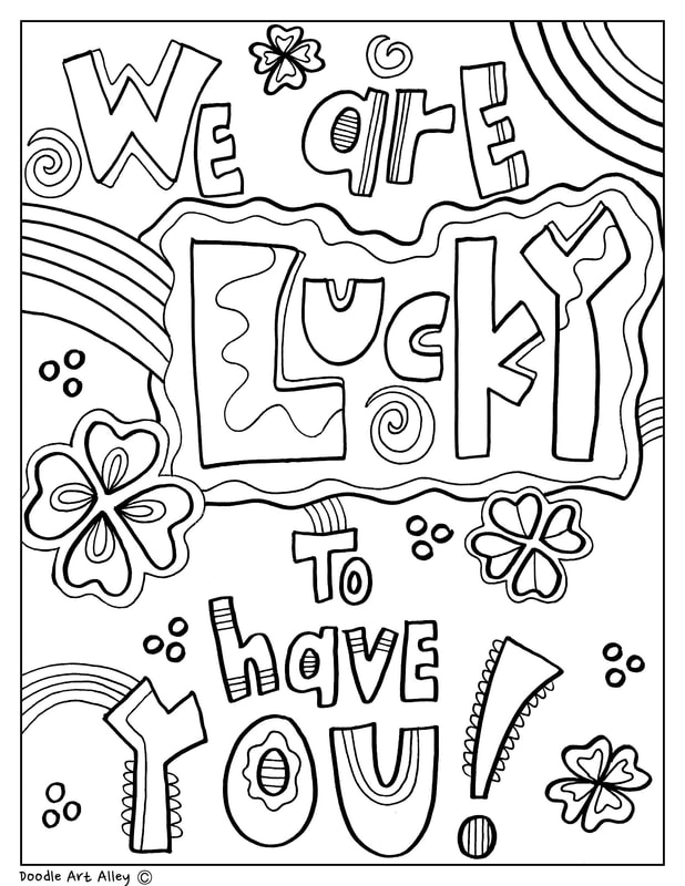 A Things Coloring Page